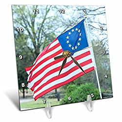 3dRose Danita Delimont - Flags - USA, South Carolina, Camden, Historic Camden, Betsy Ross flag - 6x6 Desk Clock (dc_259986_1)