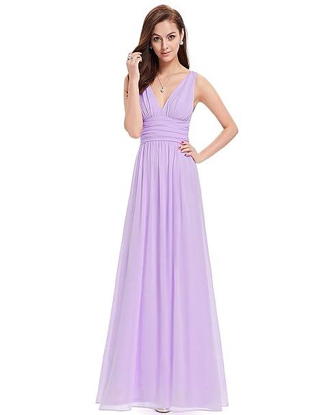 d7ee9d2877 Ever-Pretty Women s Sleeveless V-Neck Semi-Formal Maxi Dress  Amazon.co.uk   Clothing