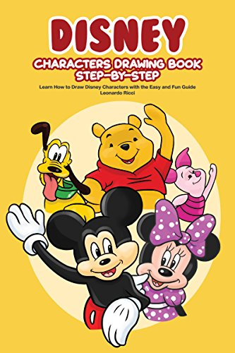 disney characters drawing book step by step learn how to draw