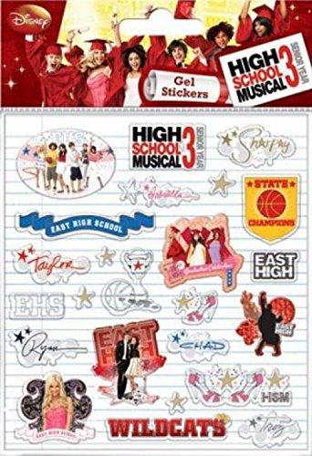 1art1 High School Musical Sticker Set - 3, Gel Stickers, Set (6 x 4 ()