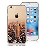 iphone 6 case, iPhone 6s Case,COSANO Premium Quality UV Print Semi-transparent Hard PC Back Cover+Shock Absorbing Soft Bumper Protective Case for 4.7 inches iPhone 6/6s(Empire State Building)