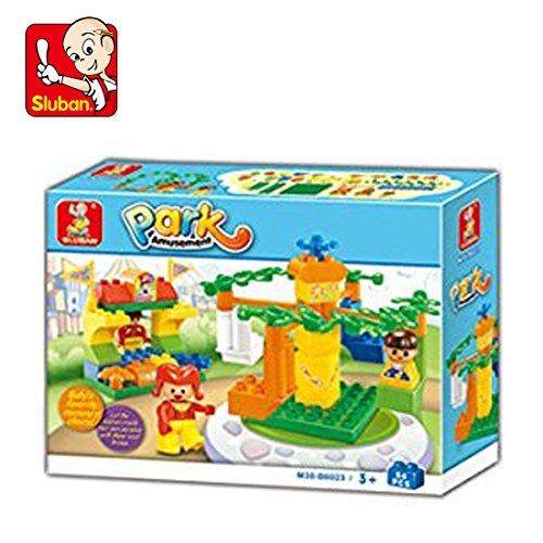Sluban Amusement Park Building Block Toys for Kids 44 Pieces Multi Color Lego Compatible Educational Gift Toys M38 B6023