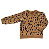 Intrans Baby Boys Cute Leopard Pattern Sweatershirt Full Sleeve Lovely Hoodies Yellow 3 Years Old