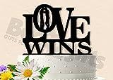 Love Wins Same Sex Wedding Cake Topper