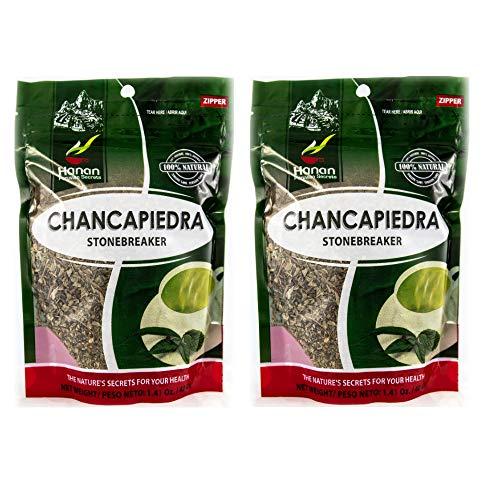 Chanca Piedra Stone Breaker 100% Natural From in Peru - 2 Zip Lock Loose Leaf Tea Bags Bundle