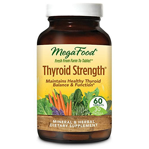 Thyroid Support 60 Tablets (MegaFood - Thyroid Strength, Mineral and Herbal Support for Thyroid and Cardiovascular Health, Energy Levels, and Mental Cognition with Ashwagandha and L-Tyrosine, 60 Tablets (FFP))