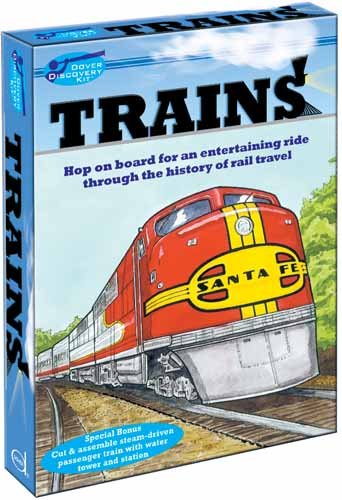 Trains Discovery Kit (Dover Fun Kits) (English and English Edition) (Fun Kits Dover)