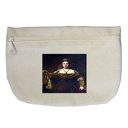 Juno Canvas (Juno (Rembrandt) Canvas Makeup Bag Zippered Pouch)