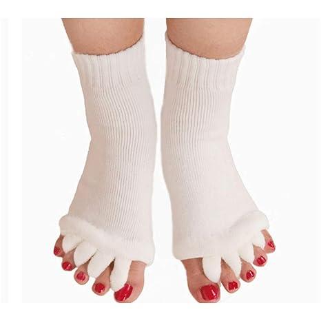 Lezed Calcetines separadores de Dedos para Yoga Cinco ...