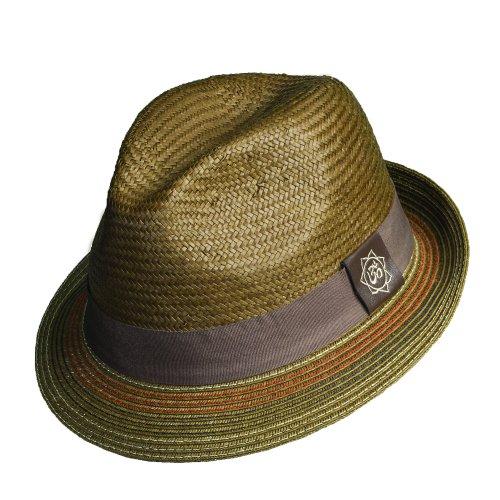 Santana Holistic Toyo Pinch/braid Fedora Hat (M, - Hat Braid Wide Toyo