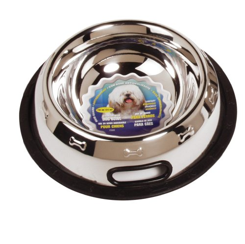 Dogit Stainless Steel Non-Spill Dog Dish, 24-Ounce