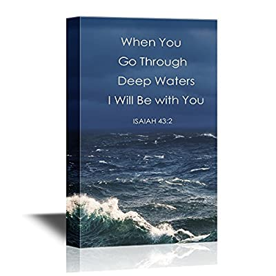 Premium Product, Astonishing Artisanship, Christian Quotes Series When You Go Through Deep Waters I Will Be with You Isaiah 43:2