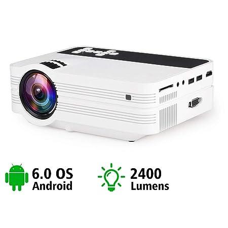 E-kinds Videoproyector portátil LCD, Proyector de Cine en casa ...