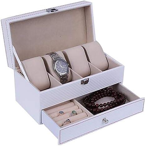 GW Caja de Fibra de Carbono de 2 Capas de 4 bits con cajón Caja de ...