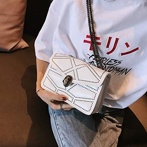 Llevar Hebilla magnética blanco Diagonal para champán de con Mano KLXEB Documentos Bolsa para Mujer vnRHWnUaq