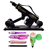 VOVOV Supermatic Love Sex Machine for Men and Women,Thrusting speed Adjustable,Machinegun Fast Thrust Masturbation Toy, A Variety of Accessories for User (Type-J, Black)