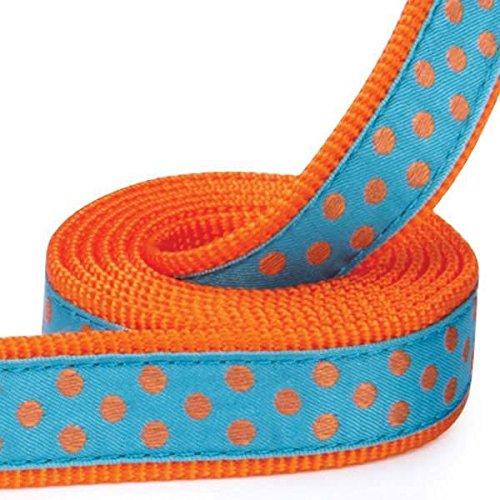 Polka Dot Dog Leads Bright Colorful Fashion Pattern Leash Choose Color & Length(6