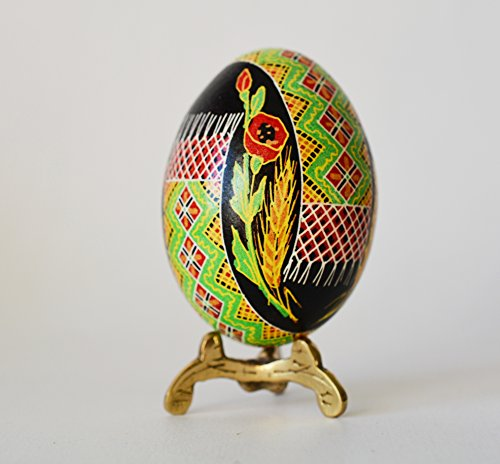 Pysanka egg, chicken egg hand painted, Ukrainian Easter with embroidery design - Easter Embroidery Design