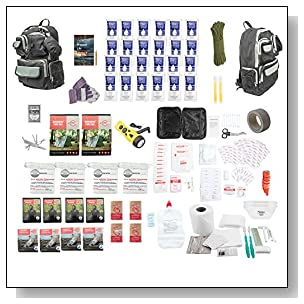 Urban Survival Bug Out Bag, Choose from 2 or 4 Person Emergency Disaster Kit, 72-hour, Emergency Zone Brand (4 Person)