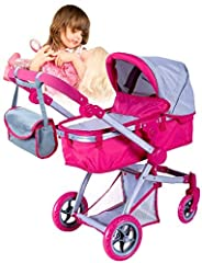 This Stylish and Professional Doll Stroller is the perfect gift for your little ones!. this will bring lots of fun to all kids very small ones like bigger ones. Looks just like Mom's Stylish Bugaboo Stroller with kids loving colors. Item is f...