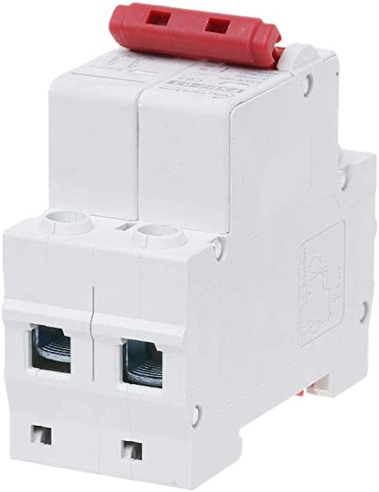 Qiulip 2P DC 1000V Mini disjoncteur Solaire 10A//16A//32A//50A//63A DC photovolta/ïque MCB