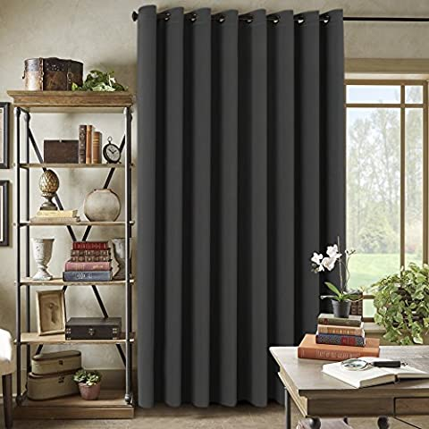 H.Versailtex Extra Long and Wide Blackout Curtains, Thermal Insulated Premium Room Divider (Total Privacy, 9' Tall by 8.5' Wide -Grommet Wider Curtain Large Size 100
