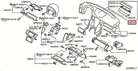 Moldings Infiniti Genuine Panel Pad Instrument Cluster Lid ...