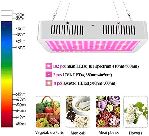 LED Grow Light for Indoor Plants,2300W Full Spectrum UV and IR Plant Growing Lamps,Green House Lights with Bloom Switch,for Indoor Plants,Greenhouse,Veg and Flower