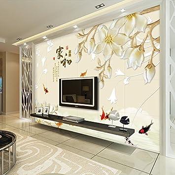 Hervorragend Yosot 3D Hintergrund Tapete Chinesisch Wohnzimmer Wandmalerei Tapeten  Tapeten 140Cmx100Cm