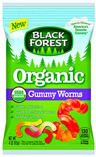 Black Forest Organic Gummy Worms, 4 Ounce Peg Bag -- 12 per case. Black Forest Gummy Worms