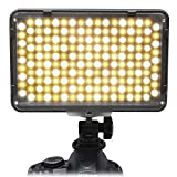 Mcoplus 168 Bi-Color LED Dimmable Digital Camera/Camcorder Video Panel LED Light for Canon Nikon Pentax Panasonic SONY Samsung Olympus DSLR Cameras DV Studio Photography