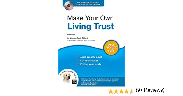 Make Your Own Living Trust (Book & CD-ROM): Denis Clifford ...