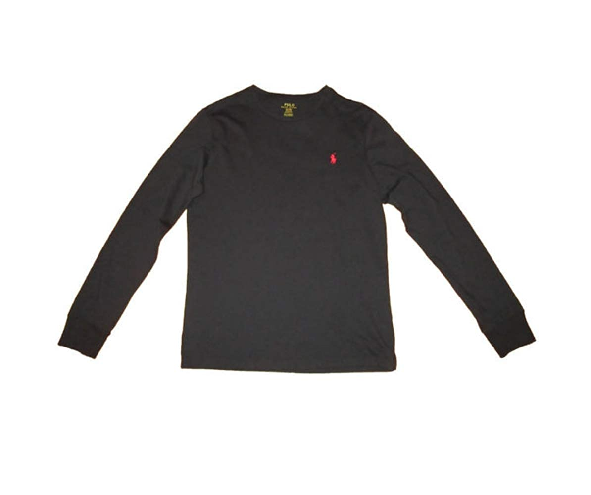 a3455cd480f1 Polo Ralph Lauren Mens Long Sleeve Crew Neck Custom Slim Fit T-Shirt ...