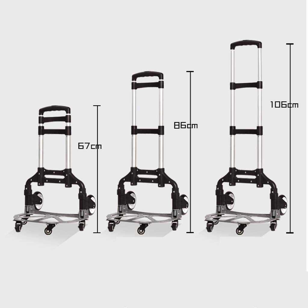 Zehaer Portable Trolley, Small Cart Folding Portable Trolley Home Shopping Cargo Handling Luggage Car-9-9 (Color : D) (Color : A) by Zehaer (Image #5)
