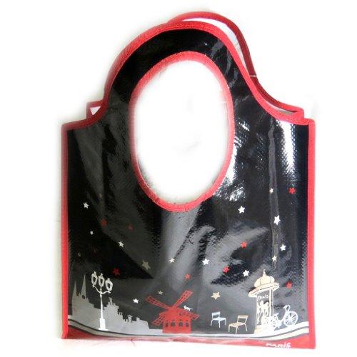 Shopping bag Monuments De Parisrosso nero.