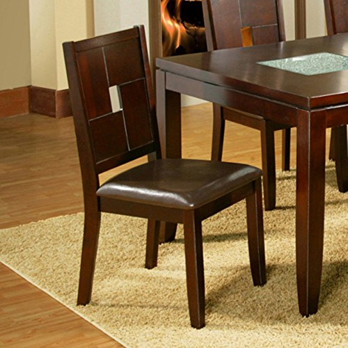 Alpine Furniture Lakeport Dining Chairs (Set of 2) Alpine Leather Chair