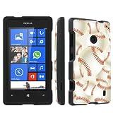 SkinGuardz Nokia Lumia 520 Full Protection Hard Case - (Baseball Black)