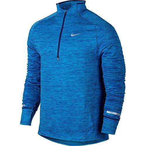 Nike Men's Element Sphere Half Zip Top - Deep Royal Blue/Heather/Light Photo Blue - Medium