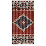 LIBIN Vintage Design New Style Southwest Native American Polyester Bathroom Shower Curtain -Inch