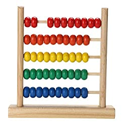 Wooden Toy Small Abacus Handcrafted Early Learning Kids Math Toy.