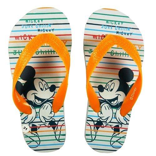Chanclas Disney Mickey color blanco a rayas, talla 31/32 -d09905/3