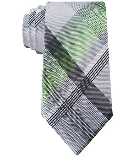 Geoffrey Beene Print Tie - Geoffrey Beene Green Men's Silk-Blends Plaid Print Neck Tie Gray Not Applicable