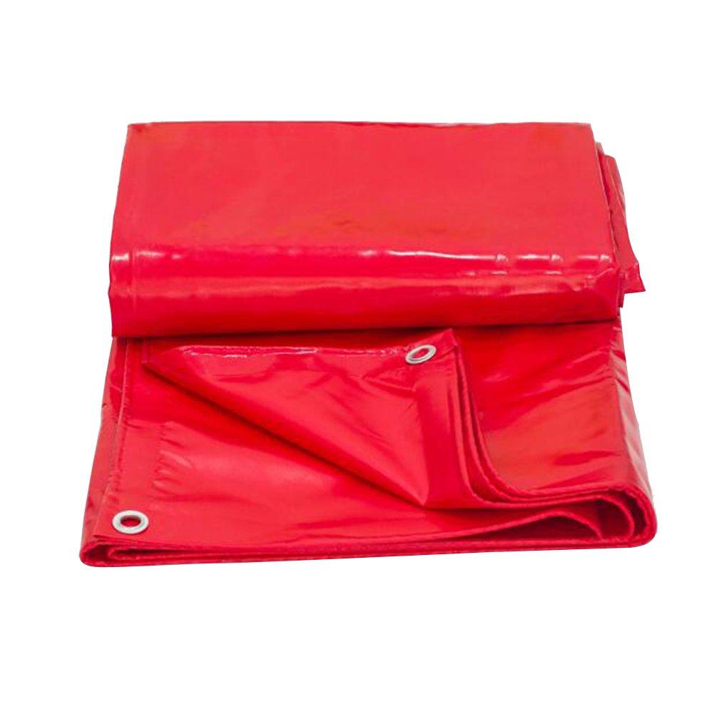 LQQGXL ターポリン、防水ピクニックマット、日除け防塵シェード布断熱材 防水シート (色 : Red, サイズ さいず : 4 x 4m) B07FP7Y5CJ 4 x 4m|Red Red 4 x 4m