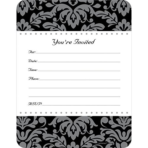 Amscan Party Perfect Special Day Invitation Set, Paper,