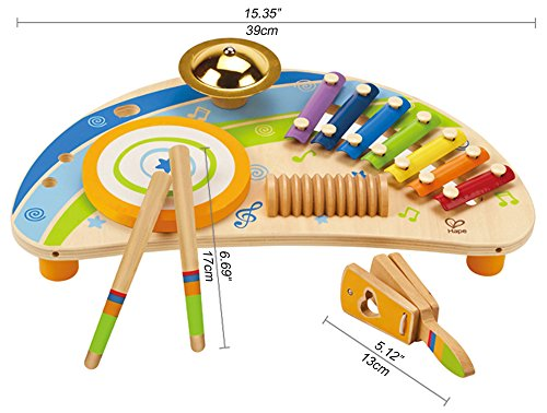 Award Winning Hape Mighty Mini Band Wooden Percussion Instrument by Hape