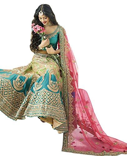 Mohit Creations Multi Color Indian wear Lehenga Choli