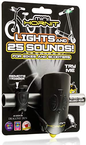 Hornit MINI HORNIT BLYE Fun Horn and light gift for kids bike & scooters, Black and Yellow