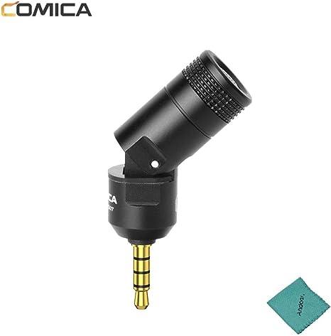 Comica Mini micrófono CVM-VS07 3,5 mm TRRS Plug para Smartphone ...