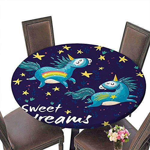 PINAFORE Premium Tablecloth Ceielle avec licornes arc en ciel affiche ou copie Everyday Use 63