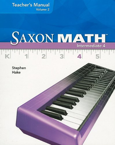 Saxon Math Intermediate 4, Vol. 2, Teacher's Manual